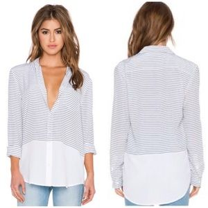 Equipment • reese neat striped silk top blouse